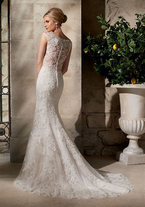 embroidered appliqu 233 s on net over chantilly lace with