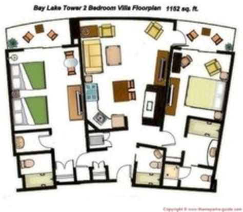bay lake tower two bedroom villa 1000 images about disney floor plans on pinterest villas floor plans and disney s