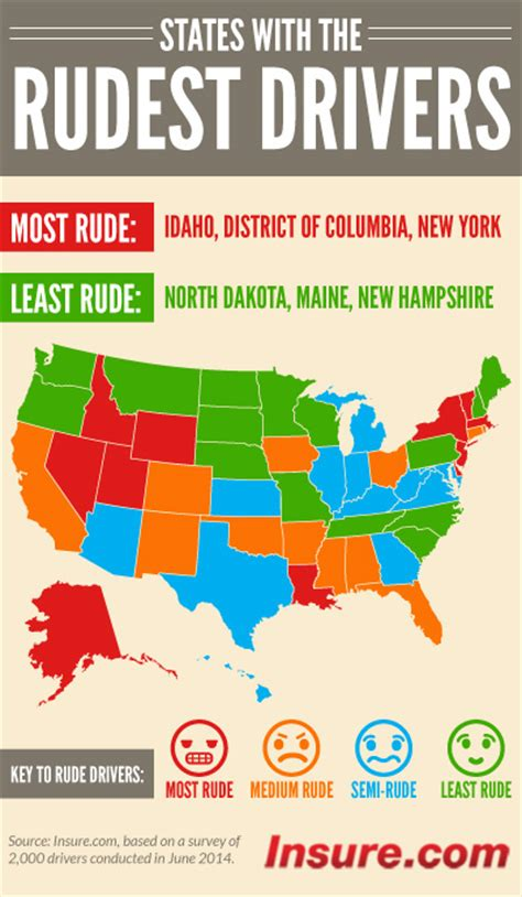 The states with the rudest drivers ? and the states that