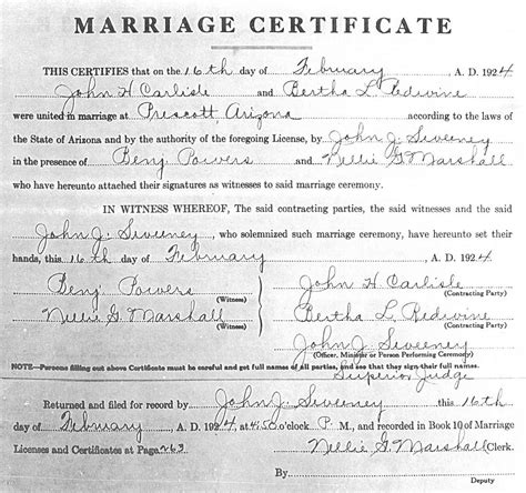 Search Marriage Records Copy Of Marriage License Images