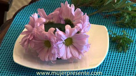 manualidades con beatriz guajardo centro de mesa con vela y flores naturales