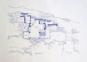 Frank Lloyd Wright Blueprints Frank Lloyd Wright Falling Water Site Blueprint By