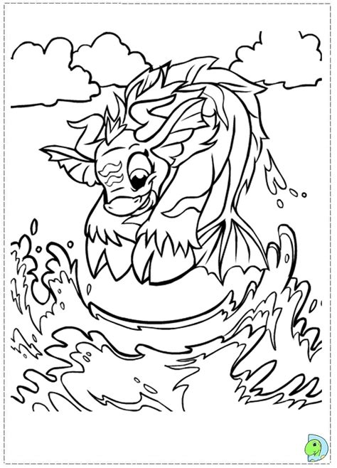 Neopets Maraqua Coloring Page Dinokids Org Coloring In Pages