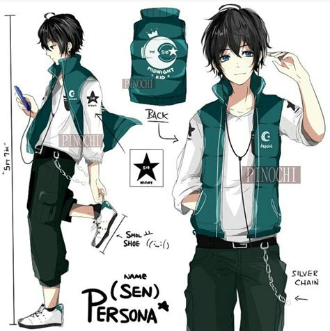 anime boy outfit ideas manga clipart male character pencil and in color manga