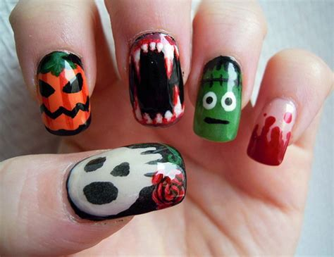 easy nail art halloween 50 simple easy spooky scary halloween nail art designs