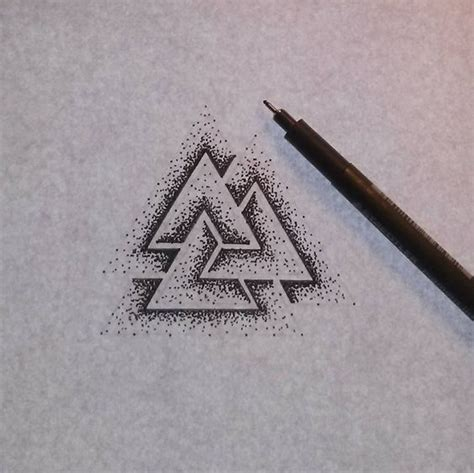 valknut tattoo pinterest valknut i really like this and think it would be a sick