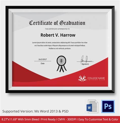 graduation certificate template word 11 graduation certificate templates word pdf documents