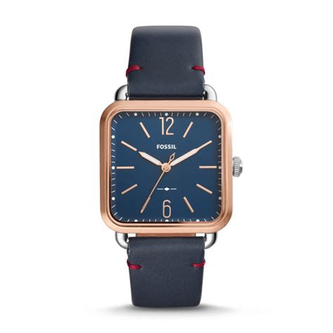 Fossil Neely Navy Leather Es4338 three navy leather fossil