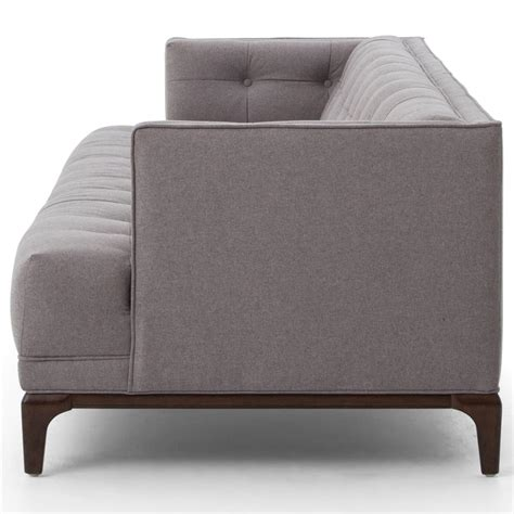 saville modern classic tufted grey fabric upholstered sofa