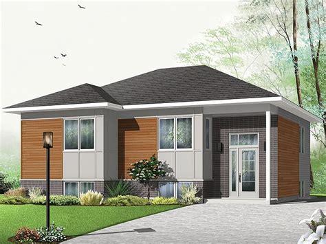 split level bungalow house plans modern home plans small contemporary house plan 027h