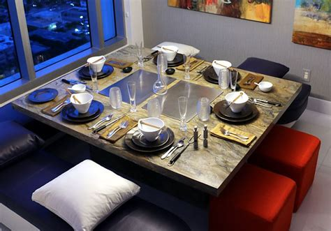 table with grill built in teppanyaki grill for the home electric built in tepan