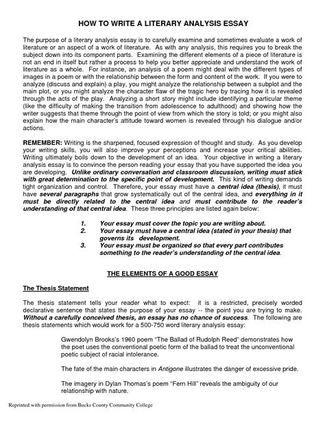 Critical Literature Review Essay by Exles Of Literary Analysis Essay Najmlaemah