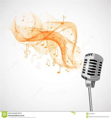 imagenes musicales retro micr 243 fono retro y notas musicales stock de ilustraci 243 n