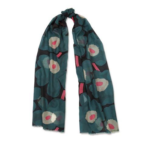 marimekko fiore green pink fiore scarf marimekko socks