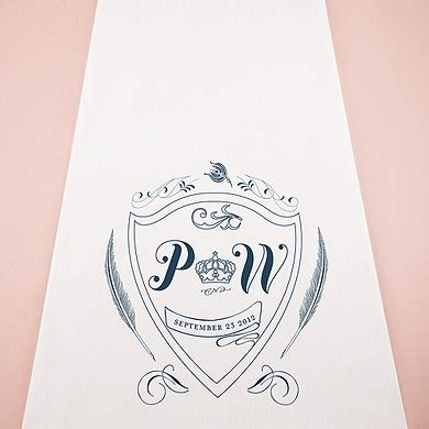 Wedding Aisle Runner Monogram by Regal Monogram Personalized Aisle Runner The Knot Shop