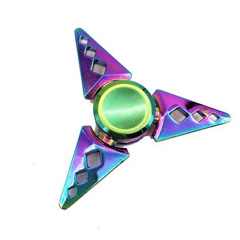 Fidget Spinner Rainbow 26 fidget spinner trio arrow rainbow spinner edc