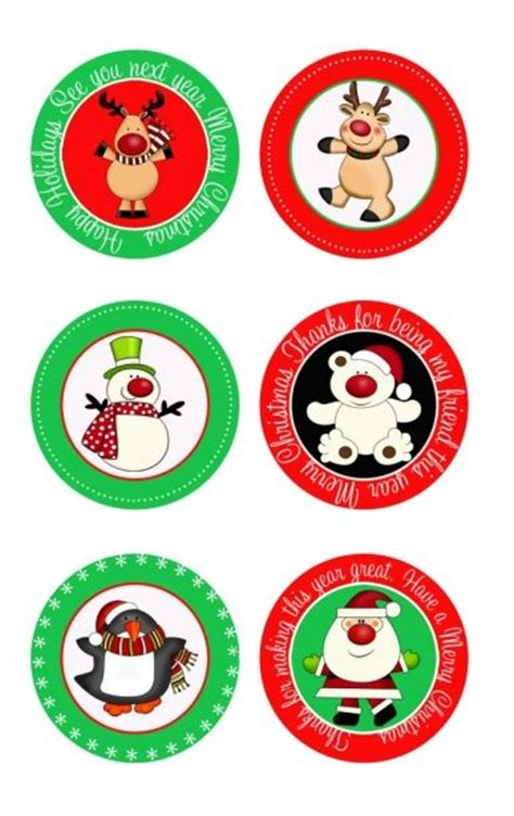 free printable round christmas gift tags 146 best christmas gift tags wrap ideas images on
