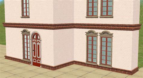 brick cornice mod the sims brick cornice and belt decorative pieces