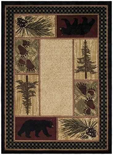 Rustic Lodge Area Rugs Rustic Lodge Black 2x8 Area Rug 23x77 11street Malaysia Living Room Rugs