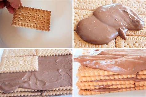 como decorar un bizcocho con galletas tarta de galletas con crema de chocolate pequerecetas