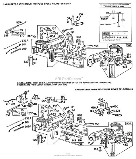 briggs and stratton carb diagram briggs and stratton 081232 9044 99 parts diagram for 2