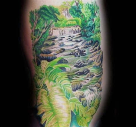 waterfall tattoos 70 waterfall designs for glistening ink ideas