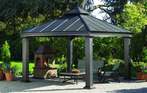 Outdoor Patio Gazebo 12x12 Hardtop Gazebos Best 2018 Choices Sorted By Size