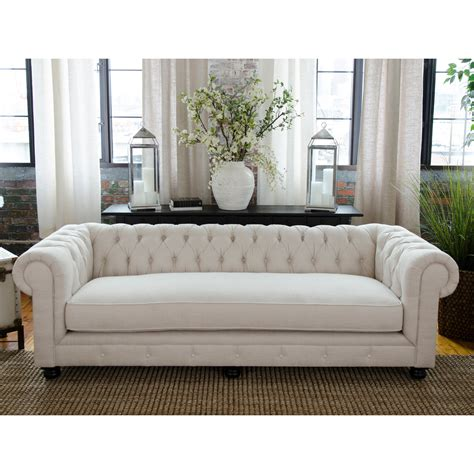 fabric chesterfield style sofa elements home estate fabric sofa sofas loveseats