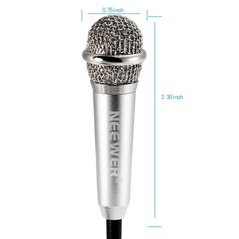 Mini Smartphone 3 5mm Microphone With Mic Stand Pink neewer mini condenser microphone for ios android