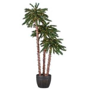 trees home depot sterling 4 ft 5 ft and 6 ft pre lit palm tree grouping