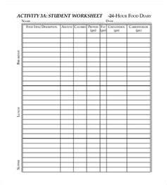 food log template 29 free word excel pdf documents
