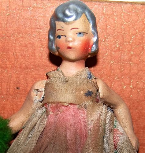 4 inch porcelain dolls porcelain antique 4 inch doll painted silver painted