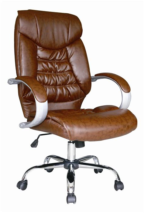 leather desk chair uk brown luxury high back swivel executive pc computer desk