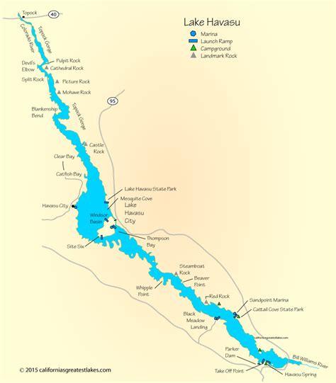 arizona fishing map lake havasu map