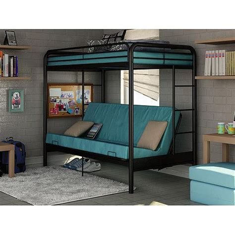 walmart bunk bed mattress dorel twin over futon contemporary bunk bed walmart com