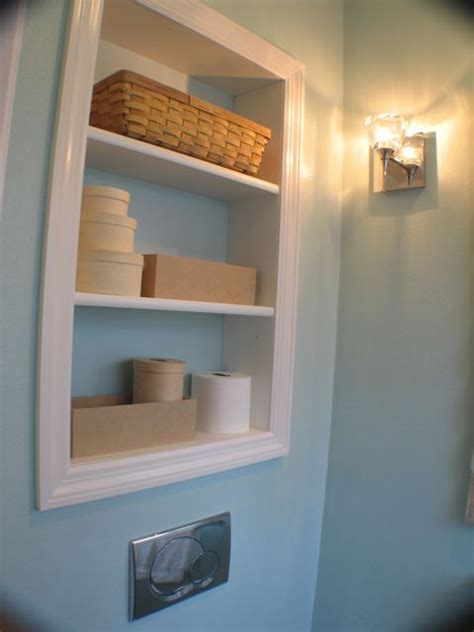 recessed cabinets between studs was thinking of a medicine cabinet in the small powder