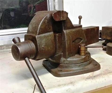 5 inch bench vise craftsman 5197 rare vise from craftsman 5 inch wide jaws