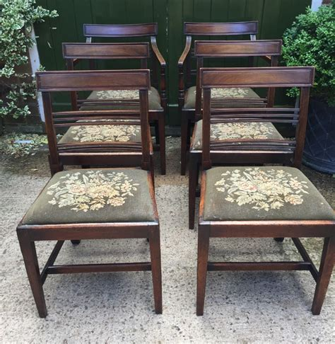 set of 6 late c18th george iii period mahogany dining