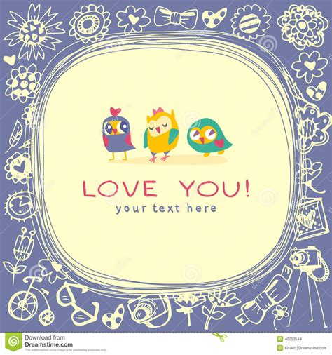 greeting card text templates owls greeting card and sle text stock vector