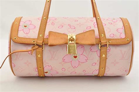 auth louis vuitton monogram cherry blossom papillon hand