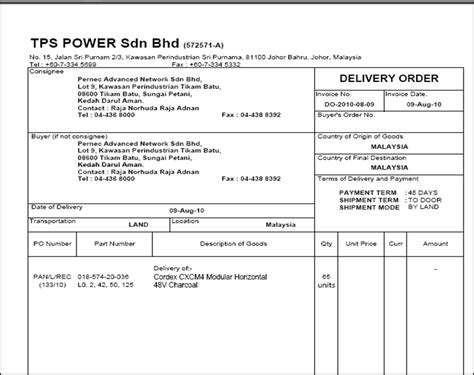 pin contoh delivery order form genuardis portal on