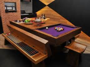 Pool table dining room