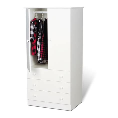 3 Door White Wardrobe With Drawers by White Edenvale 3 Drawer Wardrobe