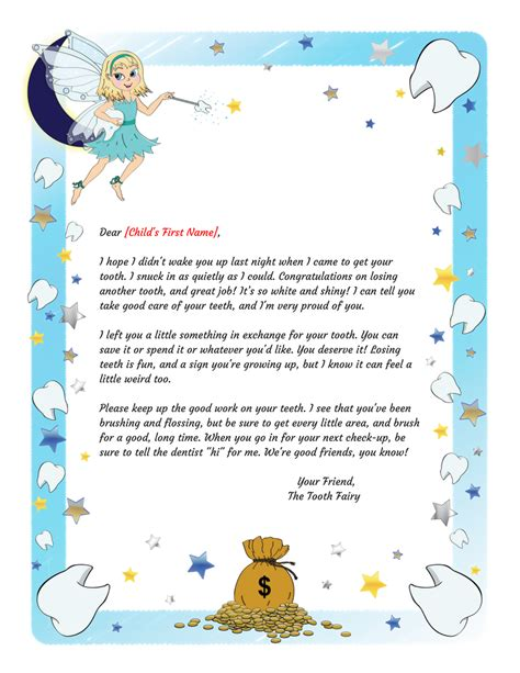 Tooth Letter Pdf