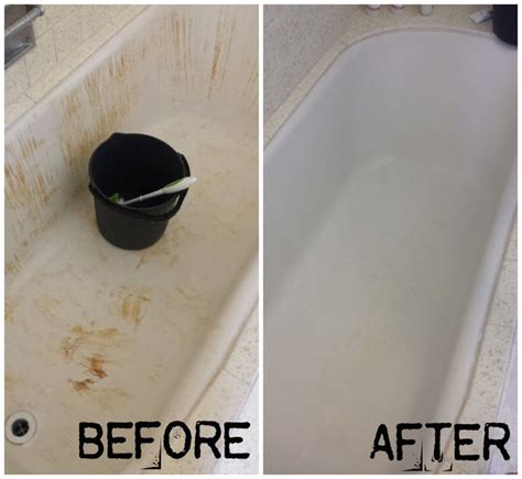 how to turn your bleach stained red bathtub white again