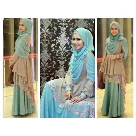 Baju Gamis Maxi Princess Green gamis modern shalyra princess maxi dress mix brokat