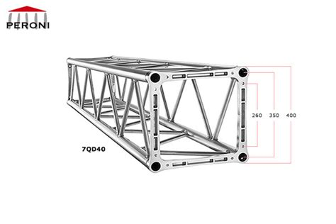 traliccio americano 7qd40 square trusses hd 40 cm aluminium trusses peroni