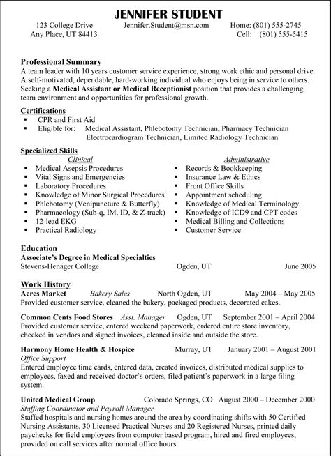 exles of resumes the most important thing on your
