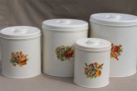cute kitchen canisters vintage kitchen canisters metal canister set tins w