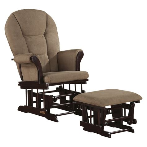 glider rocker with ottoman glider and ottoman set shermag glider rocker and
